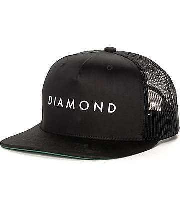 Diamond Supply Co Diamond Black Trucker Hat