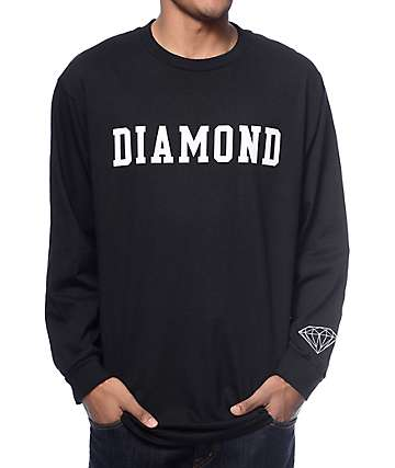 Diamond Supply Co Diamond Block Long Sleeve T-Shirt