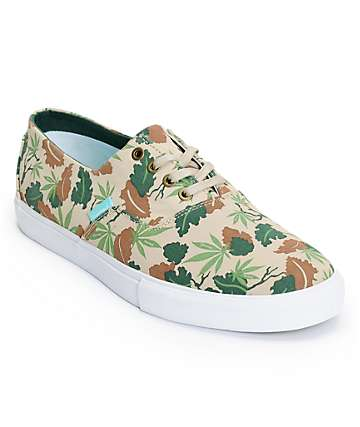 Diamond Supply Co Diamond Cuts Tan Camo Canvas Shoes