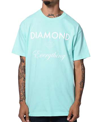 Diamond Supply Co Diamond Everything Mint & White T-Shirt