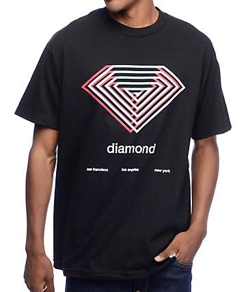 Diamond Supply Co Diamond Overlay Black T-Shirt