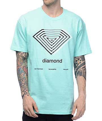 Diamond Supply Co Diamond Overlay Blue T-Shirt