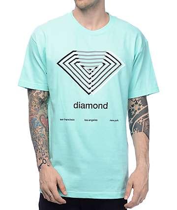 Diamond Supply Co Diamond Overlay Blue T-Shirt