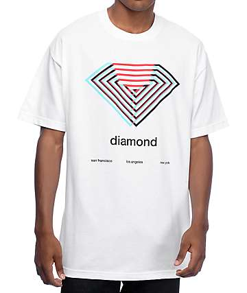 Diamond Supply Co Diamond Overlay White T-Shirt