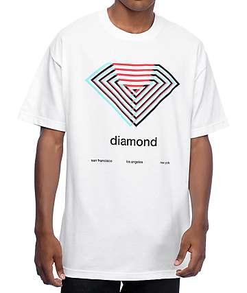 Diamond Supply Co Diamond Overlay White T-Shirt