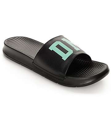 Diamond Supply Co Fairfax Black and Mint Sandals