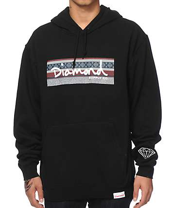 Diamond Supply Co Fairisle Box Logo Hoodie