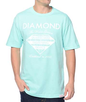 Diamond Supply Co Fastening Device Mint T-Shirt