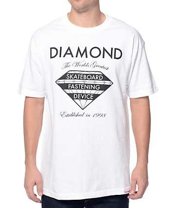 Diamond Supply Co Fastening Device White T-Shirt