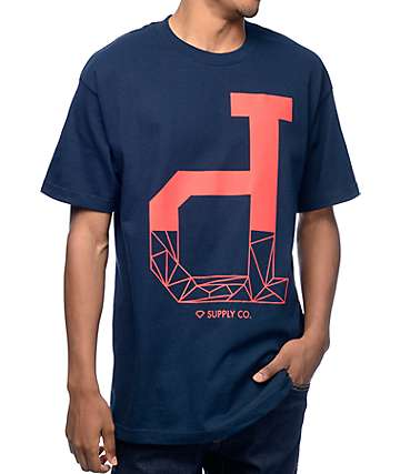 Diamond Supply Co Fractal Un-Polo Navy T-Shirt
