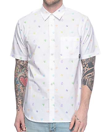 Diamond Supply Co Gems White Woven Shirt