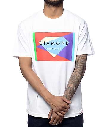 Diamond Supply Co Geometric White T-Shirt