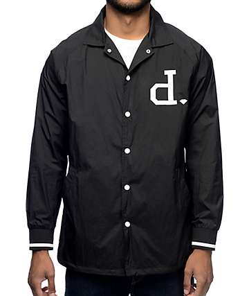 Diamond Supply Co Heavyweights chaqueta entrenador negro