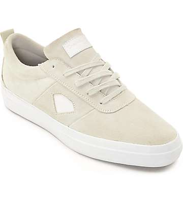 Diamond Supply Co Icon White Skate Shoes