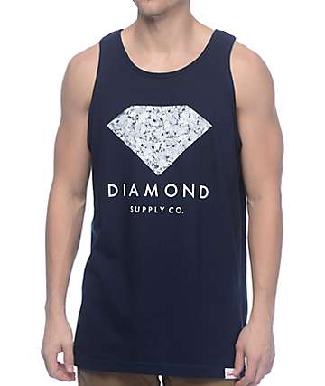 Diamond Supply Co Infinite Navy Tank Top