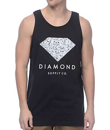 Diamond Supply Co Infinite camiseta negra sin mangas