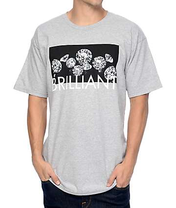 Diamond Supply Co Jewels Heather Grey T-Shirt
