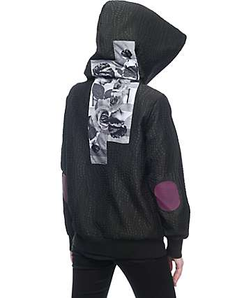 Diamond Supply Co Juliet Hooded Black Bomber Jacket