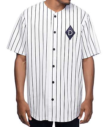 Diamond Supply Co Marquise League White Baseball Jersey