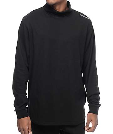Diamond Supply Co Marquise camiseta negra de manga larga con cuello alto