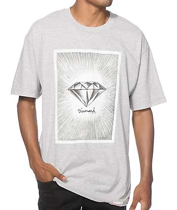 Diamond Supply Co News Print T-Shirt
