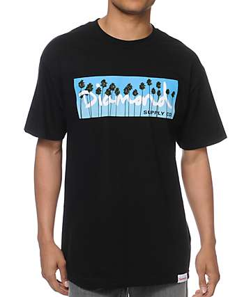 Diamond Supply Co OG Palms Black T-Shirt