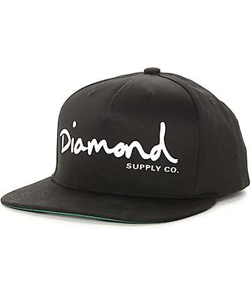 Diamond Supply Co OG Script Black Snapback Hat