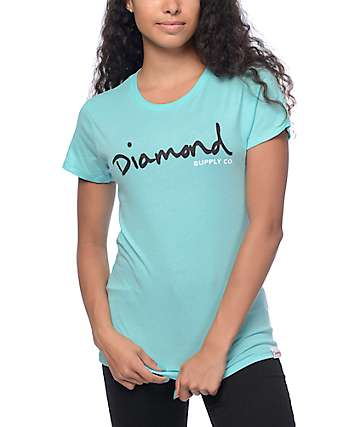 Diamond Supply Co OG Script Diamond Blue T-Shirt