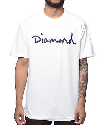 Diamond Supply Co OG Script White T-Shirt