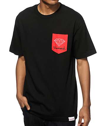 Diamond Supply Co OG Sign Pocket T-Shirt