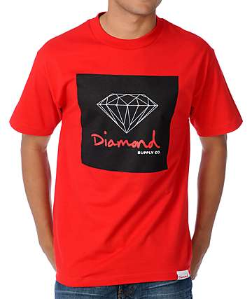 Diamond Supply Co OG Sign Red T-Shirt