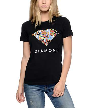 Diamond Supply Co Painted Diamond Black T-Shirt