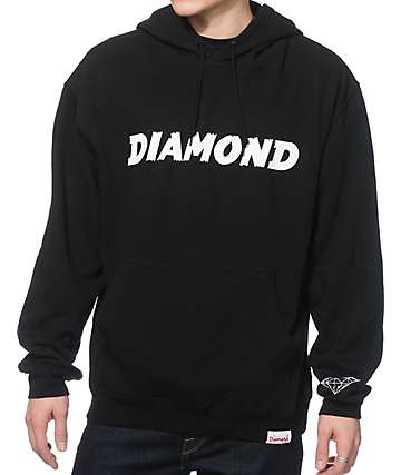Diamond Supply Co Painted Hoodie