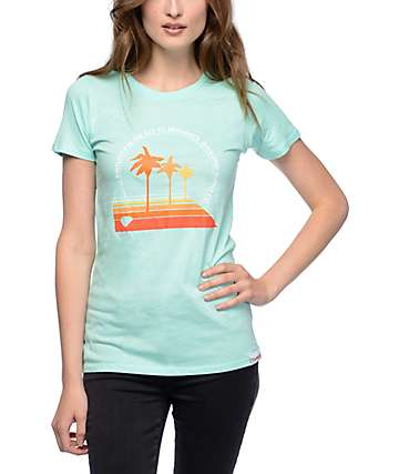 Diamond Supply Co Palm Vibes Mint T-Shirt
