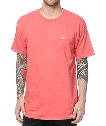Diamond Supply Co Pavilion Salmon T-Shirt