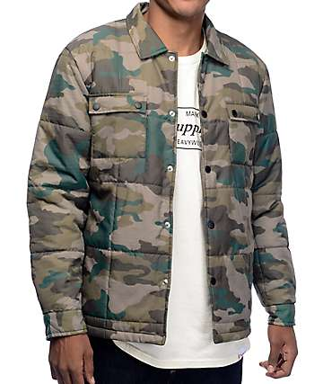 Diamond Supply Co Puffer chaqueta camuflada