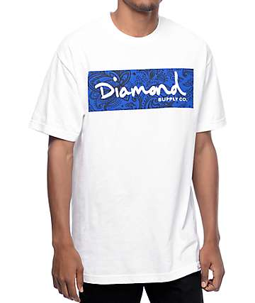 Diamond Supply Co Radiant Box Logo White T-Shirt