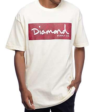 Diamond Supply Co Radiant Box Logo camiseta en color crema