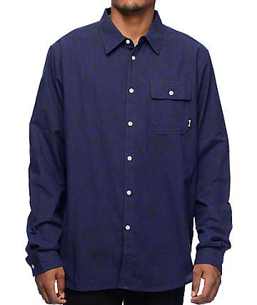 Diamond Supply Co Radiant Navy Button Up Shirt