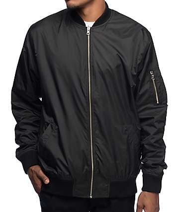 Diamond Supply Co Radiant Reversible Black Bomber Jacket