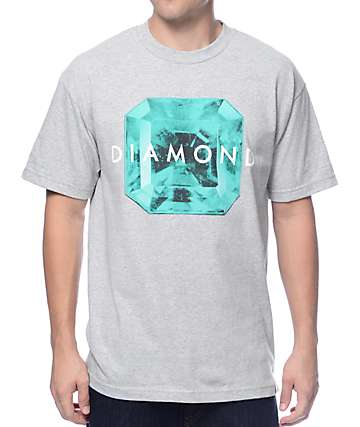 Diamond Supply Co Rare Gem Heather Grey T-Shirt