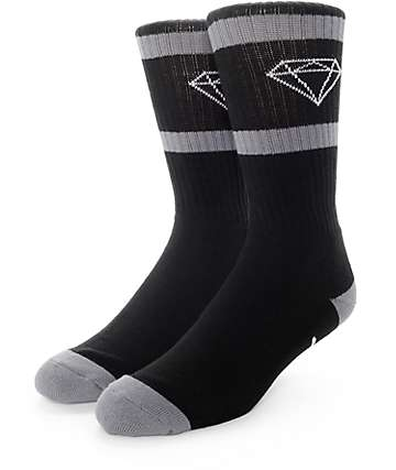 Diamond Supply Co Rock Sport Black & Grey Crew Socks