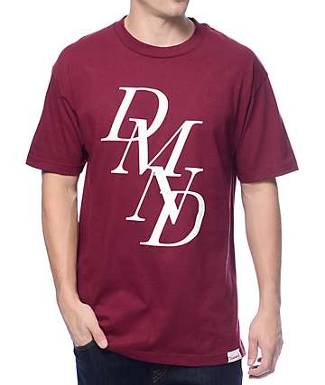 Diamond Supply Co Serif Burgundy T-Shirt