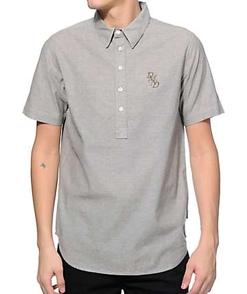 Diamond Supply Co Serif Chambray Polo Shirt