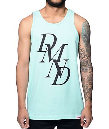 Diamond Supply Co Serif Mint Tank Top