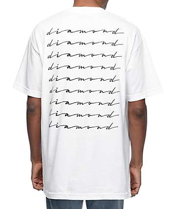 Diamond Supply Co Shine Script White T-Shirt