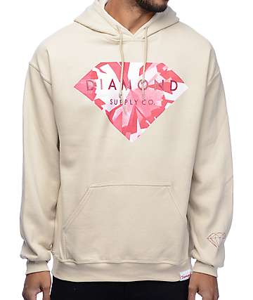 Diamond Supply Co Simplicity Brilliant Cream Hoodie