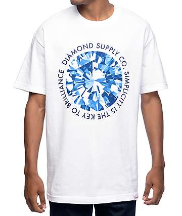 Diamond Supply Co Simplicity White T-Shirt