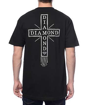 Diamond Supply Co Skatelife Cross Black T-Shirt