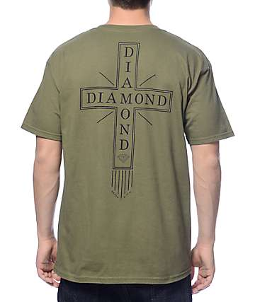 Diamond Supply Co Skatelife Cross Dark Green T-Shirt
